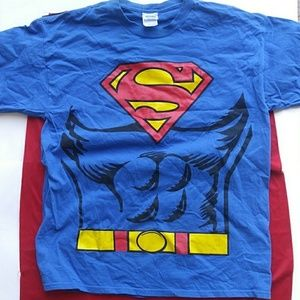 Superman T-Shirt with a Cape Attached